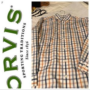 Orvis wrinkle resistant shirt-Size XL-Excellent!
